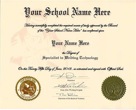 welding certificate template order welding certificate diplomas and more