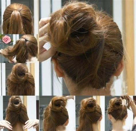 japanese hairstyles buns messy japanese bun steps tutorial hair pictorial