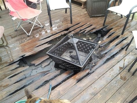 Can You Put Fire Pit On Wood Deck Fire Pit Ideas Can You Put Pit On Wood Deck