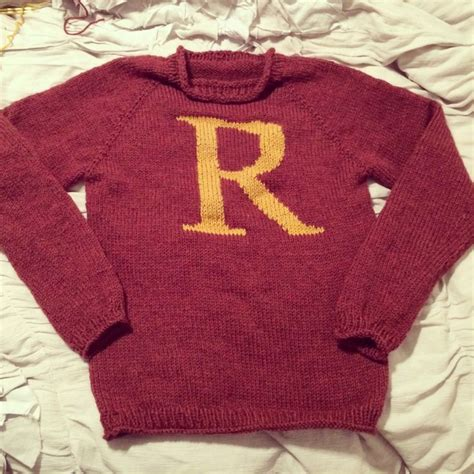 knitting pattern ron weasley jumper ron weasley knit sweaters and home made on pinterest