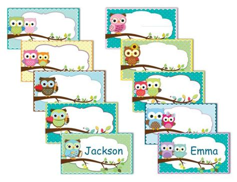 printable owl name tags printable owl labels name tags owls instant by