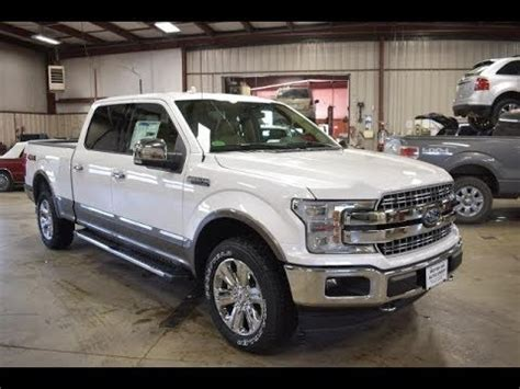 2018 white platinum metallic ford f150 lariat long box