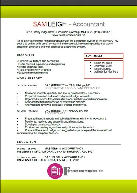 templates for accounting resume accountant resume template free resume templates