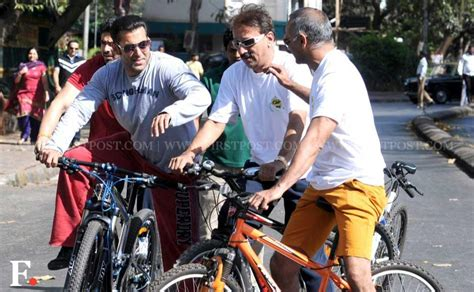 mercedes bicycle salman khan images salman khan pedals through bandra on sunday