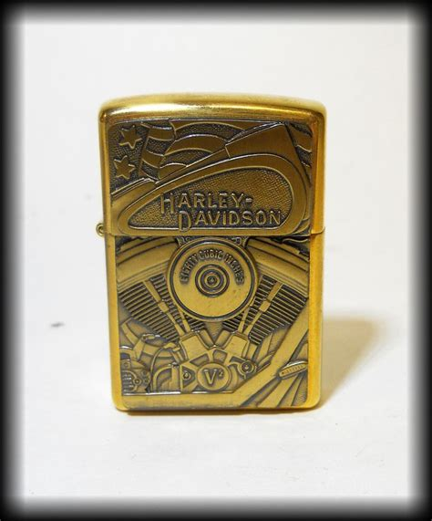 Harley Davidson Zippo Lighter by Collectible Harley Davidson Brass Zippo Lighter