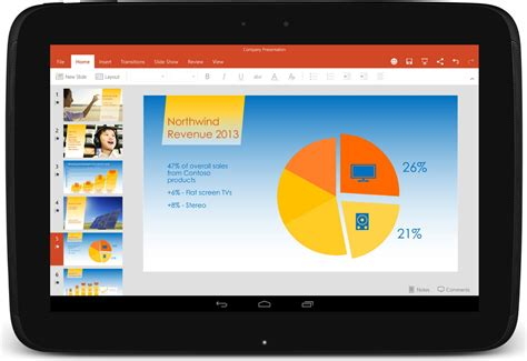 android layout large land tablet la suite microsoft office pour les tablettes android est