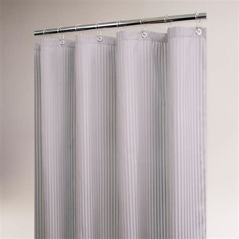 shower curtain silver antique silver satin stripe shower curtain world market