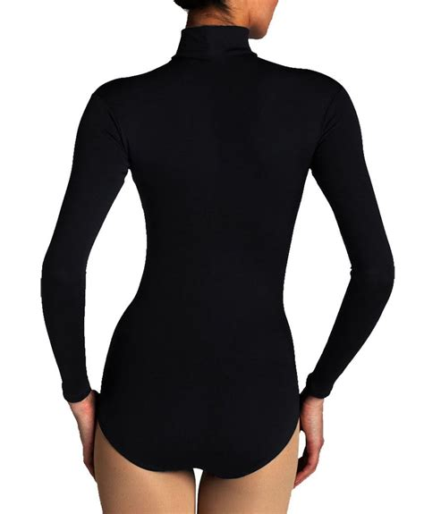 pantyhose tops sleeved ladies nylon turtleneck bodysuit womens long sleeve