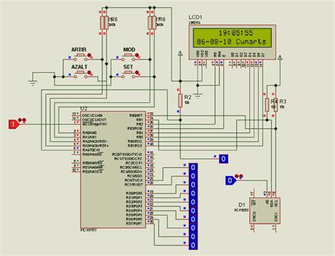 picf pfc alarm clock circuit picbasic