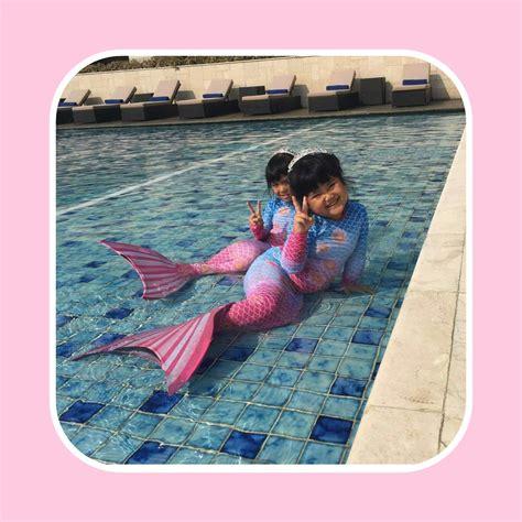 Mermaidtail Motif Fantasia Pink Size L 8 10th23 30kg Lengan Panjang detail dan harga baju putri duyung pink blue flow