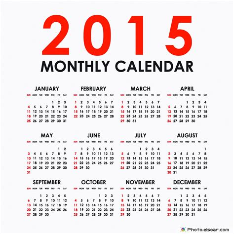 image gallery 2015 12 month calendar