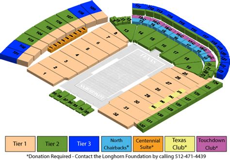 dkr seating chart texassports seating charts