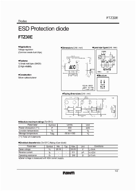 ic esd diode ftz30e 4768590 pdf datasheet ic on line