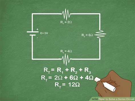 solve resistor in series how to solve a series circuit 9 steps with pictures wikihow