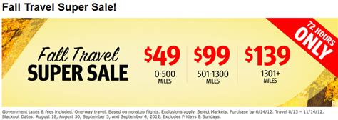 southwest sale southwest and airtran three day sale 49 99 and 139