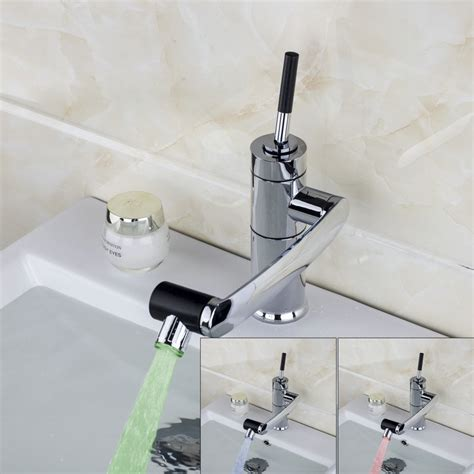 Bathroom Sink Water E Pak Yanksmart Modern Led Water Tap Bathroom Sink Faucet