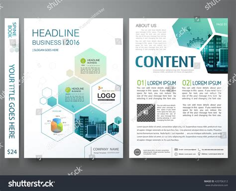 portfolio layout sles brochure design template vector flyers annual stock vector
