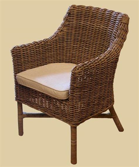 Wicker Dining Chair Style 4   Reclaimed Wood Furniture