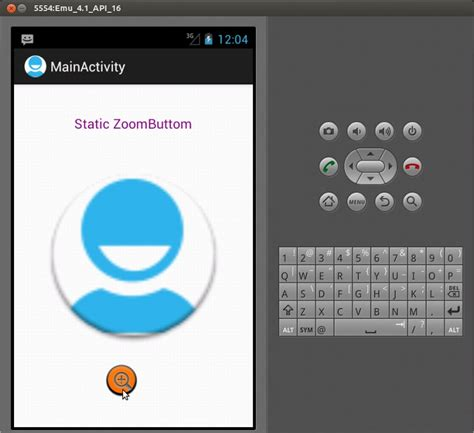 android layout zoom sle program android zoom button static zoom button