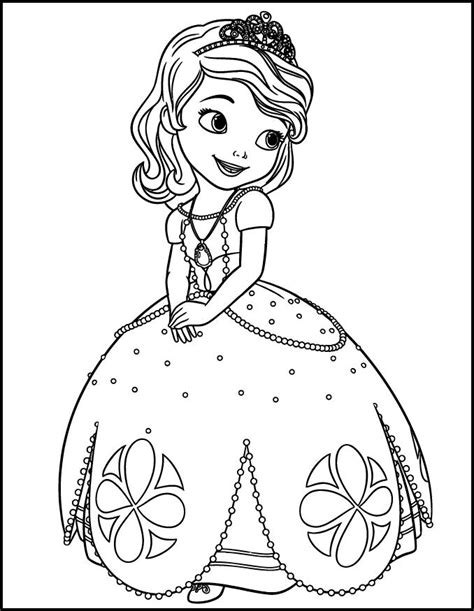 Princess Sofia Coloring Pages 1mobile