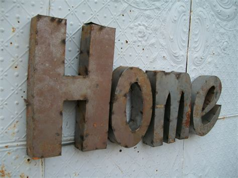 Handmade Metal Signs - great home 3d metal sign handmade for rustic