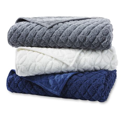 faux sherpa comforter cannon faux sherpa fleece blanket home bed bath