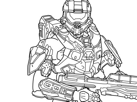 halo 3 coloring pages master chief coloring pages 13658