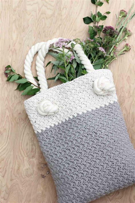 crochet bag written pattern easy modern free crochet bag pattern for beginners