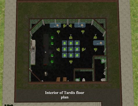 tardis floor plan mod the sims tardis and nouveau art museum
