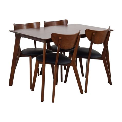 Four Chair Dining Set 35 Wholesale Interiors Brown Dining Table Set With Four Chairs Tables