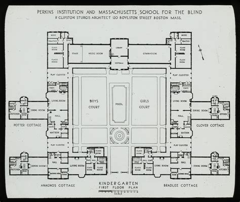 kindergarten school floor plan kindergarten first floor plan perkins institution flickr