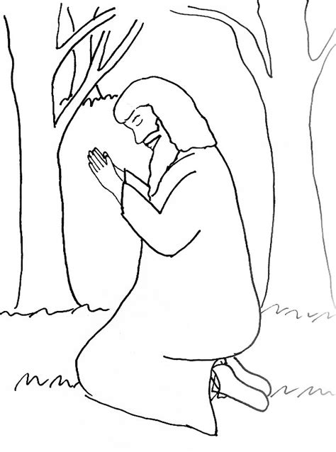 coloring pages jesus praying pix for gt jesus praying in the garden coloring pages az