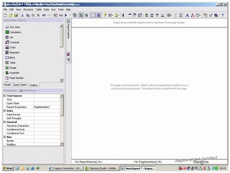 cognos report studio report templates demo