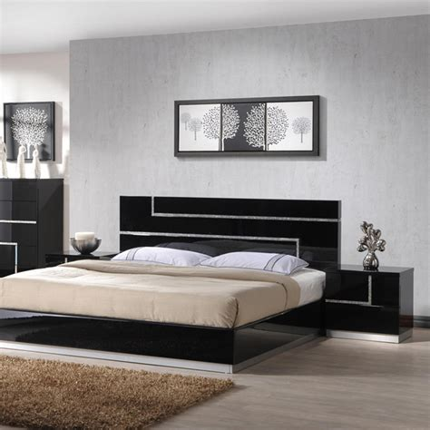 j m furniture lucca 3 platform bedroom set in black