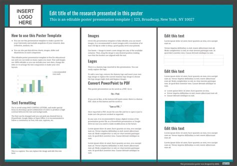 powerpoint template for poster presentation poster templates free powerpoint templates