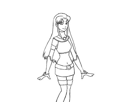 coloring page starfire teen titans coloring pages az coloring pages