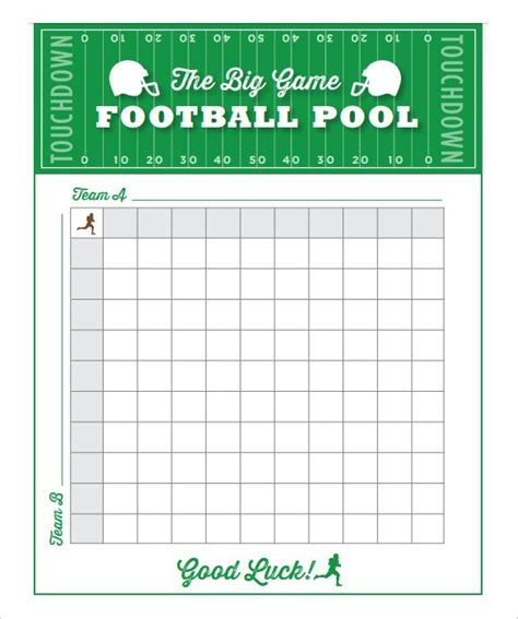 free printable football squares template free 6 blank printable football squares template