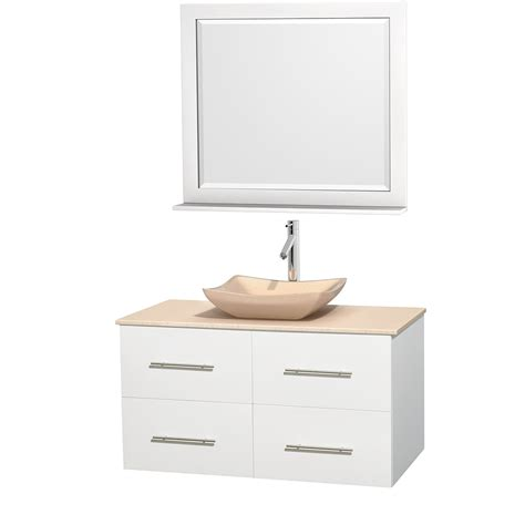 ivory bathroom vanity wyndham collection wcvw00942swhivgs2m36 centra 42 inch