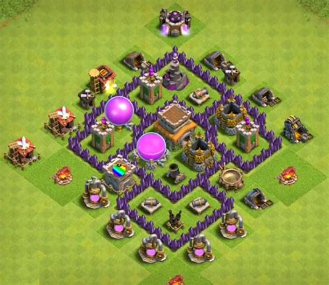 coc layout attack simulator 8 best town hall th5 farming bases anti giants 2018