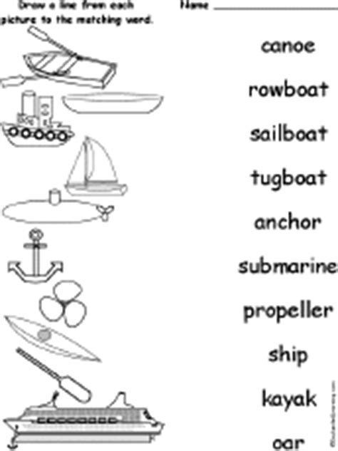 canoe type boat crossword clue matching words and pictures worksheets