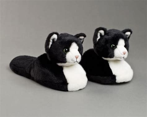 slippers for cats black and white slippers black and white cat slippers