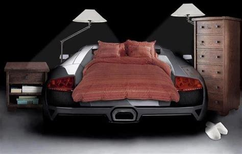 lamborghini bed how a real car guy s house looks 1 1 racing rides