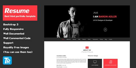 Resume Personal Portfolio Web Template Html Resume Website Templates Codester Personal Website Template Html Css