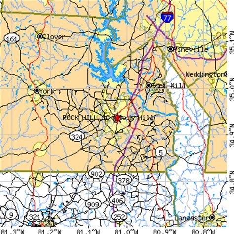 rock hill carolina map rock hill south carolina sc population data races