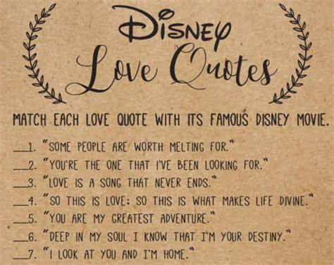 Disney Love Songs Bridal Shower Games . Printable Instant