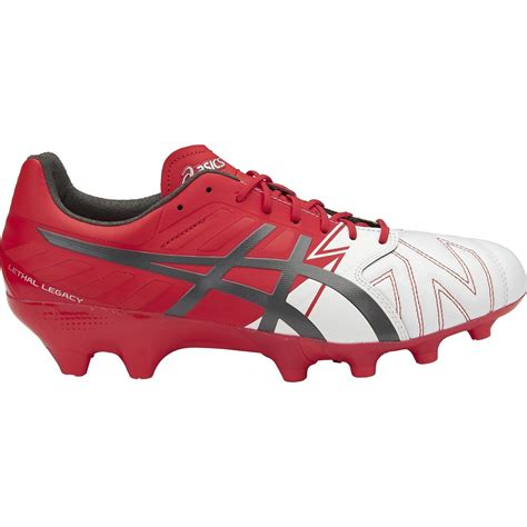 Asics Football Gear asics lethal legacy it mens football boots white carbon vermilion sportitude