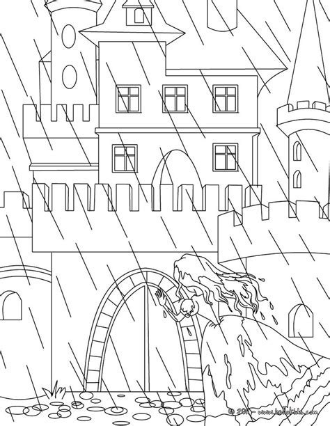 the princess and the pea tale coloring pages hellokids com