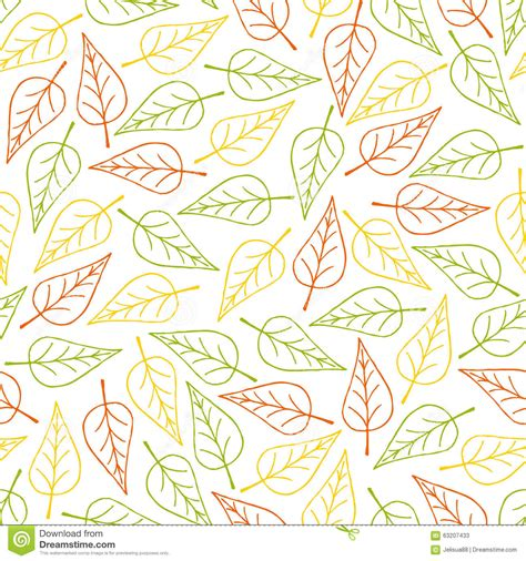 seamless nature pattern free seamless pattern leaf stock vector image of autumn
