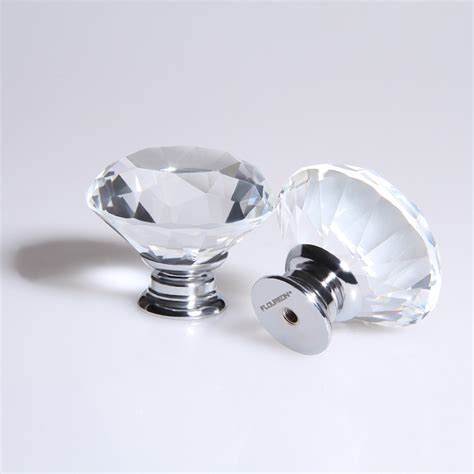 Clear Drawer Knobs by 8x 40mm Clear Glass Door Knobs Drawer Kitchen
