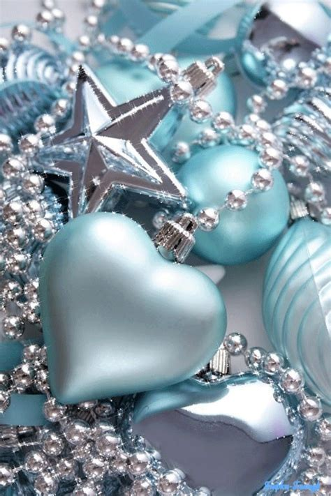 light blue christmas ornaments pictures